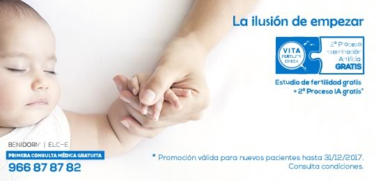 promoción en tratamientos de fertilidad de VITA 2017
